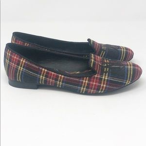 6 Rock & Republic Plaid Slip On Loafers Flats